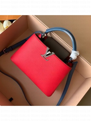 Louis Vuitton Capucines BB Top Handle Bag M52990 Red/Grey/Blue 2019 Collection
