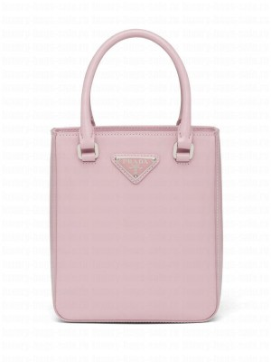 Prada Small Brushed Leather Tote 1BA331 Pink