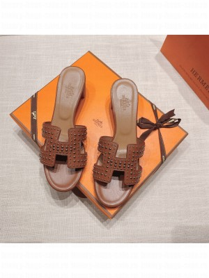 Hermes Oran Flat slippers with Lizard pattern Yellow 068 2021 Collection