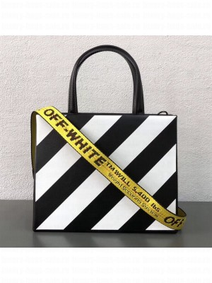 Off-White Leather Virgil Aloh Handle Bag Black/White 2018 Collection