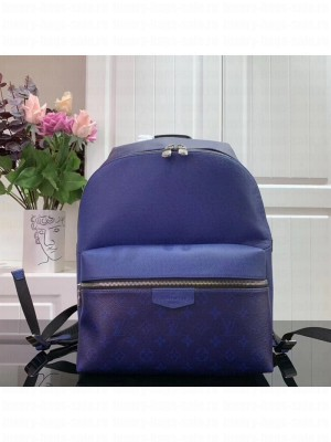 Louis Vuitton Discovery Monogram Leather Backpack PM M30229 Blue 2019 Collection