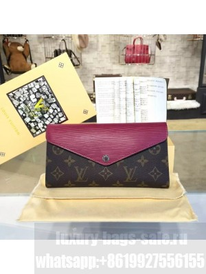 Louis Vuitton Marie Lou Long Wallet Epi and Monogram Leather Canvas Fall/Winter 2016 Collection M60499, Aurore