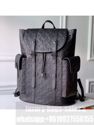 Louis Vuitton Men's Christopher PM Monogram Embossed Leather Backpack N41379 2019 Collection