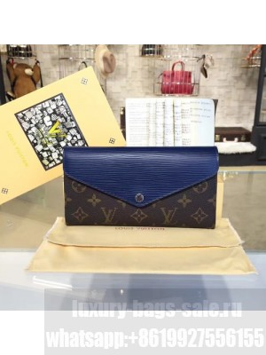 Louis Vuitton Marie Lou Long Wallet Epi and Monogram Leather Canvas Fall/Winter 2016 Collection M60499, Navy Blue