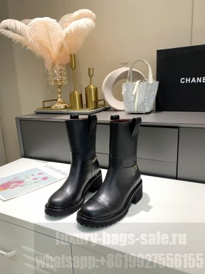 Chanel Calfskin 5cm Black Ankle Boots 2021 Collection