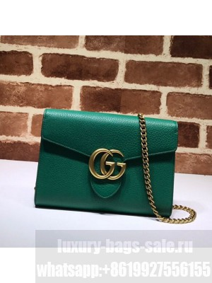 Gucci GG Marmonet Leather Mini Chain Bag 401232 Green Collection