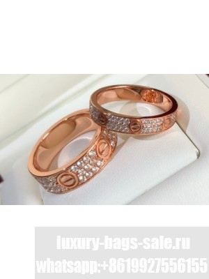 Cartier Love Ring diamond-paved Pink Gold