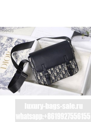 Christian Dior Messenger Bag 25cm Oblique Embroidered Canvas Fall/Winter 2020 Collection, Blue