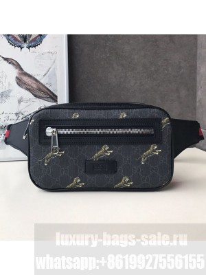 Gucci Bestiary Belt Bag with Tigers Print 474293 Black/Grey 2019 Collection