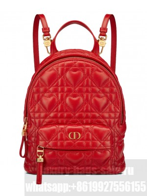 Christian Dior Mini Dioramour Dior Backpack Red