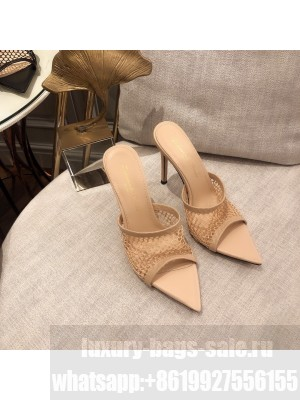 GIANVITO ROSSI Mesh MULE 105 Beige Spring/Summer 2021 Collection