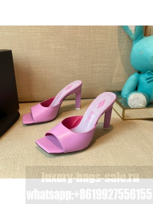 """The Attico """"Devon"""" Purple patent leather mule with pyramid heel, height 115mm Spring/Summer 2021 Collection"""