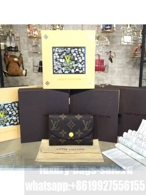 Louis Vuitton Rosalie Coin Purse Wallet Monogram Leather Canvas Fall/Winter 2016 Collection M41939, Yellow