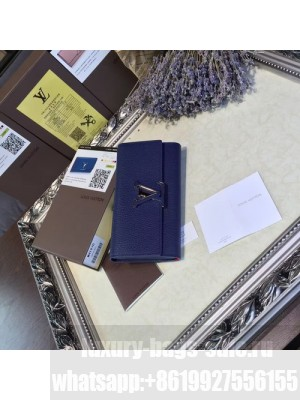 Louis Vuitton Capucines Wallet Cuir Taurillon Leather Fall/Winter 2016 Collection M41970, Navy Blue