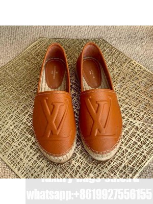Louis Vuitton LV Grained Leather Espadrilles Brown 2021 Collection