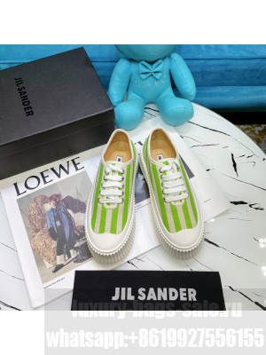 JIL SANDER Leather sneakers with vulcanized rubber sole 14 2021 Collection