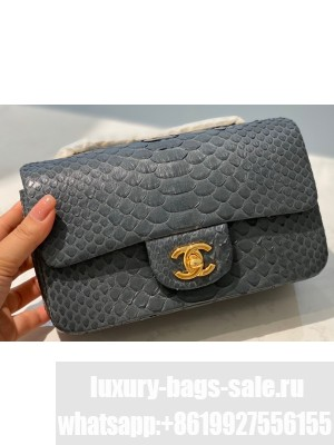 Chanel Python Classic Flap Small Bag A1116 09
