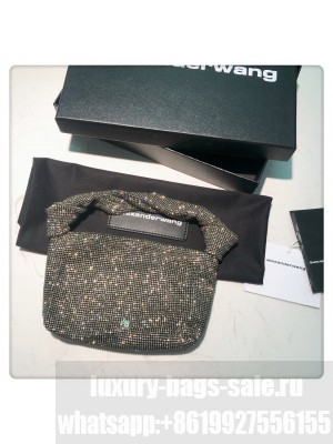 Alexander Wang Wangloc Knot Pouch Bag With Crystal Rhinestone Chain Mesh