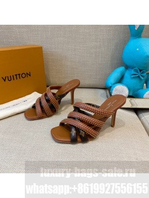 Louis Vuitton  Appeal mule embellished with studs brown 2021 Collection