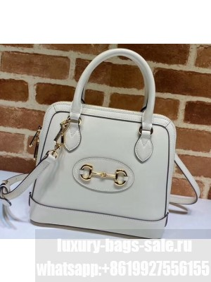 Gucci 1955 Horsebit Small Top Handle Bag 621220 Leather White 2020
