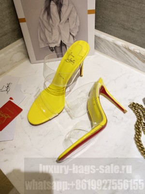 Christian Louboutin Just Nothing 10 mm Mule Yellow 2021 Collection