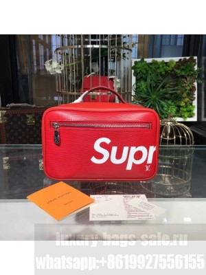 Louis Vuitton x Supreme Handy Clutch Bag Epi Canvas Leather Fall/Winter 2017 Collection M64572, Red
