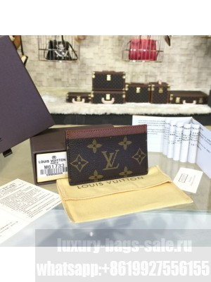 Louis Vuitton Card Holder Wallet Monogram Canvas Leather Spring/Summer 2017 Collection M61733, Brown