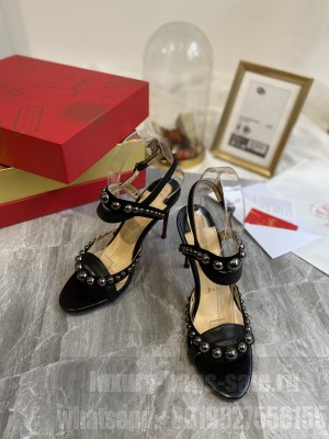 Christian Louboutin Crystal Studded Black Sandals 2021 Collection