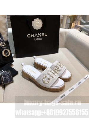 Chanel Women's Mules G34826 Spring/Summer 2021 Collection White