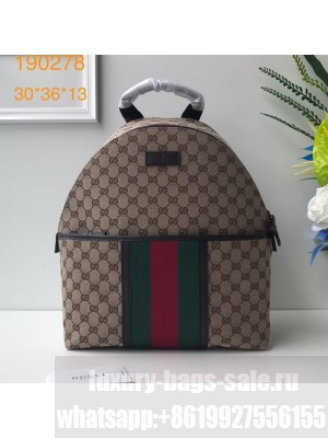 Gucci GG Canvas Web Backpack 190278 Beige 2019 Collection