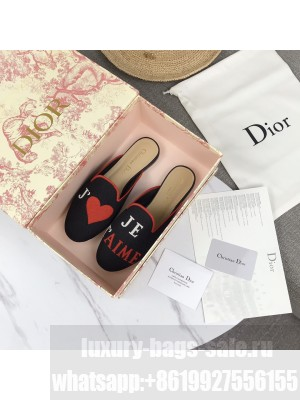 Dior Off Mules Red Embroidered Cotton 2021 Collection 07