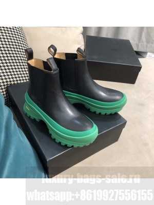 JIL SANDER Outdoor elastic-sided chelsea boots with Vibram sole Green/Black 2021 Collection