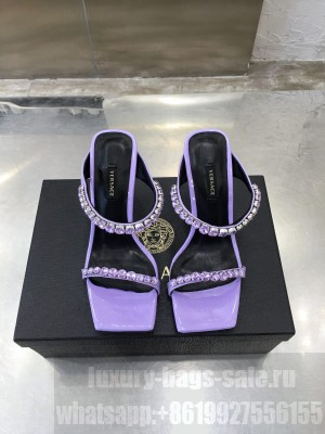 Versace mule 10.5cm with crystal Purple 2021 Collection
