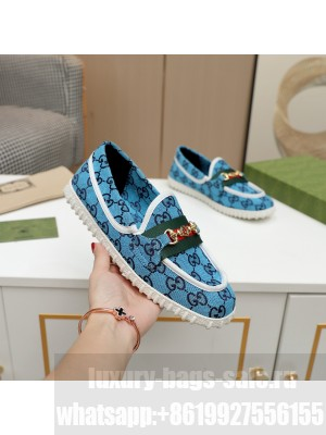GUCCI GG multicolor Loafer Blue 2021 Collection