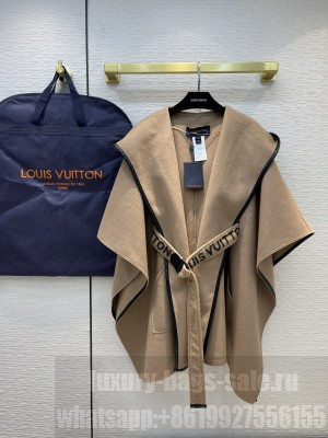 LOUIS VUITTON 1A844F HOODED CAPE COAT WITH BELT 2021 Collection