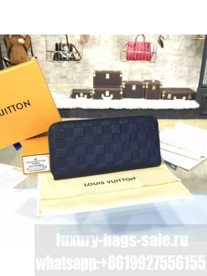 Louis Vuitton Zippy Wallet Vertical Damier Infini Leather Canvas Fall/Winter 2016 Collection N63548, Onyx