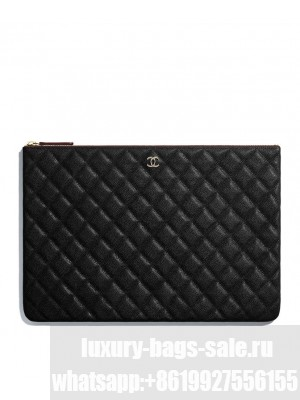 Chanel Classic Large Pouch A82552 Black