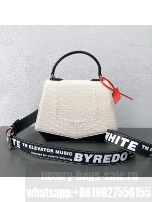Off-White/Byredo Fabric Canvas & Leather Shoulder Bag White 2018 Collection