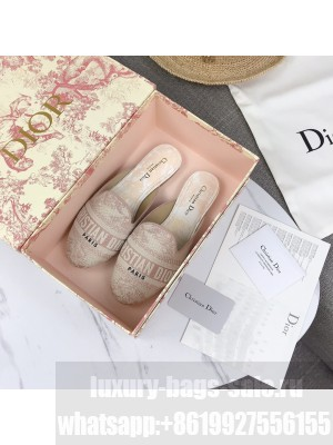 Dior Off Dior Mules In Pink Toile de Jouy Canvas 2021 Collection 03