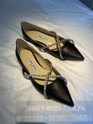Jimmy Choo Sheepskin with Crystal Strap Flat 10mm 2021 Collection