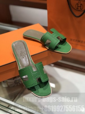 Hermes Oran Flat slippers in epsom leather 0182021 Collection