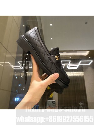 Chanel Calfksin Loafers Spring/Summer 2021 Collection,Black