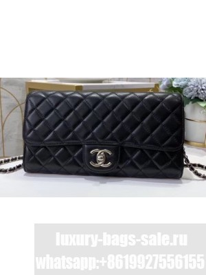Chanel Clutch with Chain Bag 50041 Lambskin Black
