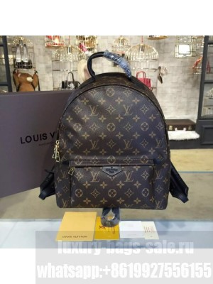 Louis Vuitton Palm Springs Backpack MM Monogram Canvas Leather Cruise 2016 Collection, Noir M41561
