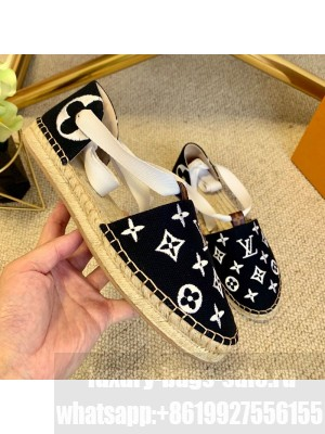 Louis Vuitton Starboard Monogram Canvas Espadrilles with Ankle Laces White 2021 Collection