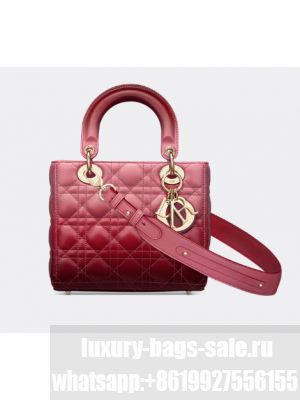 LADY DIOR MY ABCDIOR BAG Strawberry Pink Gradient Cannage Lambskin M0538OS