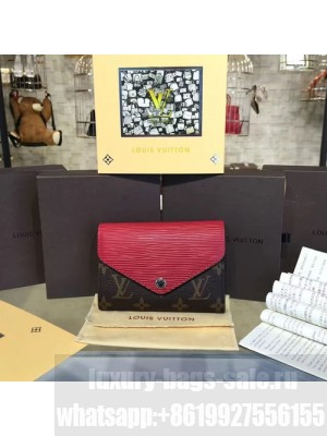 Louis Vuitton Marie Lou Short Wallet Epi and Monogram Leather Canvas Fall/Winter 2016 Collection M60494, Cherry