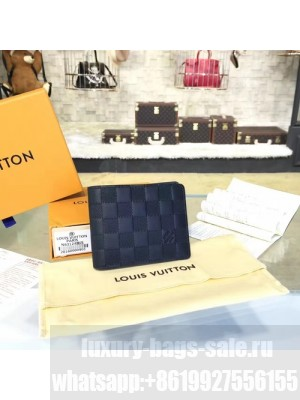Louis Vuitton Multiple Wallet Damier Infini Leather Canvas Fall/Winter 2016 Collection N63124, Onyx