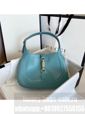 Gucci Vintage Jackie Hobo Bag 28cm Calfskin Leather Fall/Winter 2020 Collection, Light Blue