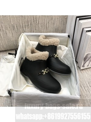 GUCCI 627890 Women's ankle boot with Horsebit Wool lining 2021 Collection Black